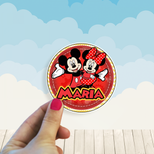 Stickers Minnie y Mickey Mouse