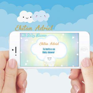 Video invitaicion baby shower nubes niño