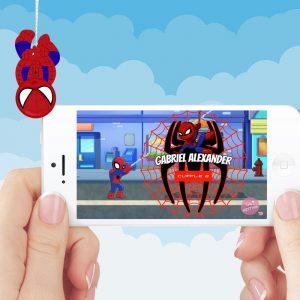 Video invitacion Spiderman chibi